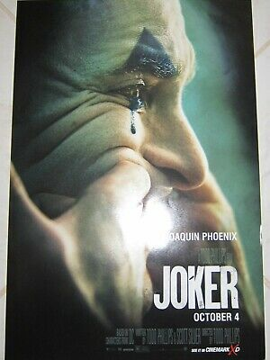 JOKER 2019 Original Cinemark XD Exclusive Promo Mini Movie Poster J Phoenix