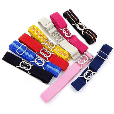 Candy Color Wide Boys Girls Kids Strip Elastic Waist Belt Waistband Toddler Gift