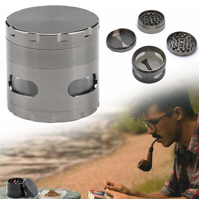 4 Layers 55mm Zinc Alloy Hand Crank Herb Mill Crusher Tobacco Smoke Grinder SALE