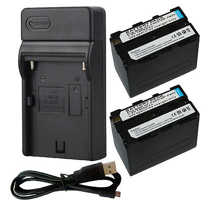 NP-F970 NPF970 7200mAh 7.2V Battery / usb Travel Charger for Sony Camcorder