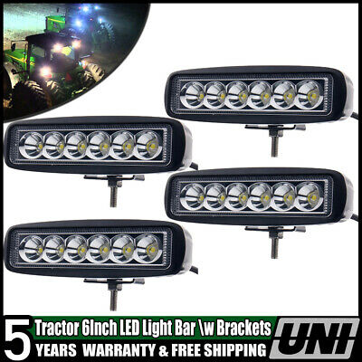 4In John Deere Massey Ferguson Ford International Tractor Fender Led Light Flood