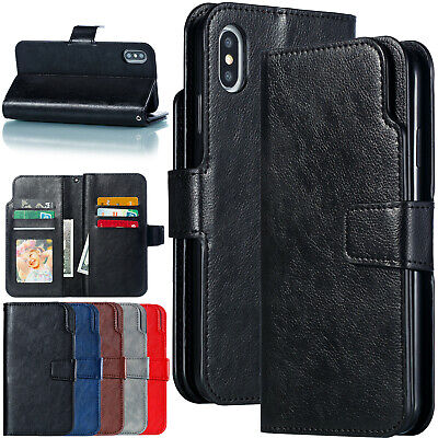 For iPhone 11 Pro Max Case XS XR 8 Plus 7 6s 5 Flip Leather Wallet Stand Cover