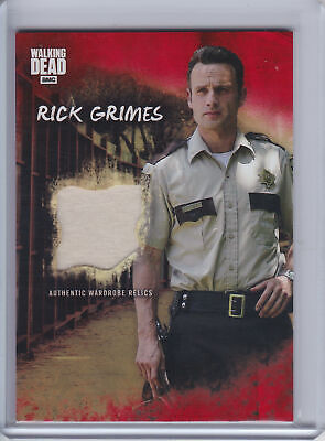 2018 Topps Walking Dead Road to Alexandria BLOOD RED Costume Rick Grimes #1/1