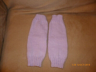 Hand Knitted Leg Warmers - One Size - Baby Soft Lilac
