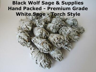 Wholesale Bulk White Sage Smudge Bundle. 20 Bundles (Fresh Premium Grade). Torch