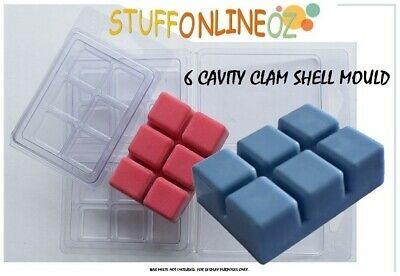 50 x 6 Cavity Clamshell Melt Mould Clam Shell Mold Soy Wax Melts