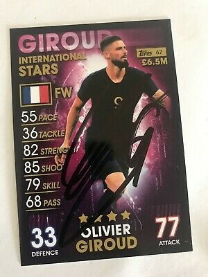 match attax 19/20 OLIVIER GIROUD FRANCE SIGNED AUTOGRAPHED