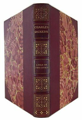 1894- A Tale of Two Cities- CHARLES DICKENS- Leather- Classic Book- Illustrated