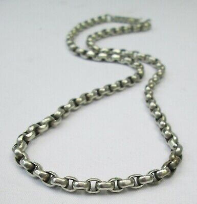 Antique Victorian Silver Plated Belcher Necklace Chain 44cm