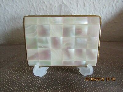VINTAGE RONSON; MOTHER OF PEARL; ladies CIGARETTE CASE WITH MIRROR:BEAUTIFUL!