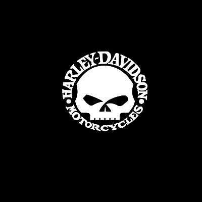 Harley Davidson Skull Vinyl Decal Bumper Sticker (see details for actual size)