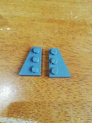 4 x LEGO 43722 Plaque Aile Wedge Plate 2x3 Right Wing NEUF NEW gris foncé