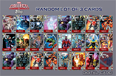 2019 NYCC X-MEN COMIC PANEL TIER 8 RANDOM LOT OF 3 Topps Marvel Collect Digital