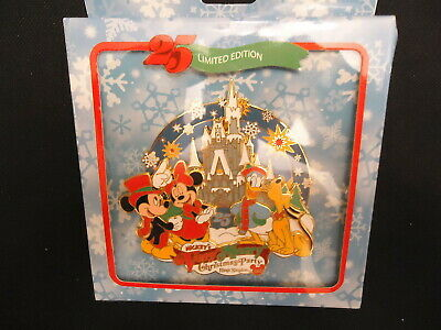 Disney Wdw Mickey's Very Merry Christmas Party 2008 Jumbo Pin In Box Le 750
