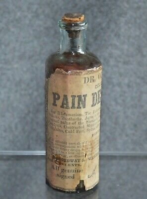 Dr. Ordway's Pain Destroyer, OP, Label. Cork, 4 1/4""