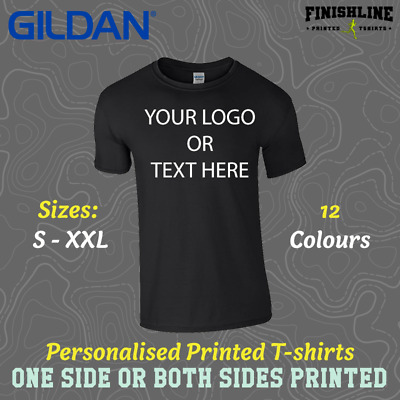Custom Printed T-Shirt Personalised Tees Promotional T shirt Stag Hen Women Men