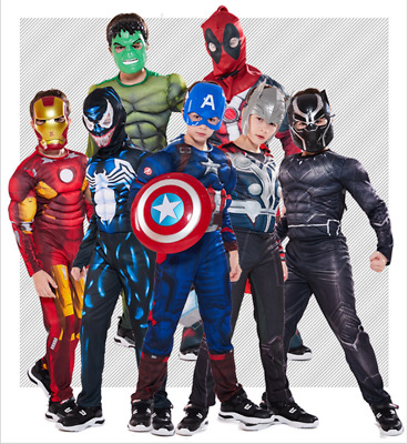 Boys Superhero Costume Marvel Avengers Cosplay Halloween Children Fancy Dress UK