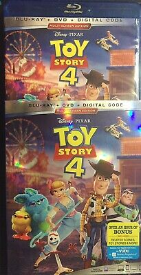 Disney's TOY STORY 4 (Blu-ray + DVD + Slipcover, No Digital) Like new Never View