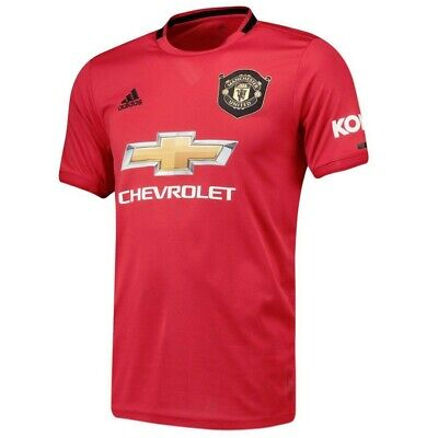 Official Mens Manchester United Home Authentic Football Shirt 2019-20 Small