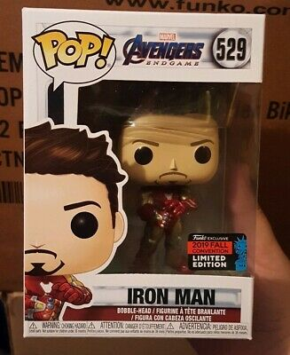 FUNKO POP! Marvel Iron Man Tony Stark with Gauntlet Shared Exclusive Amazon NYCC