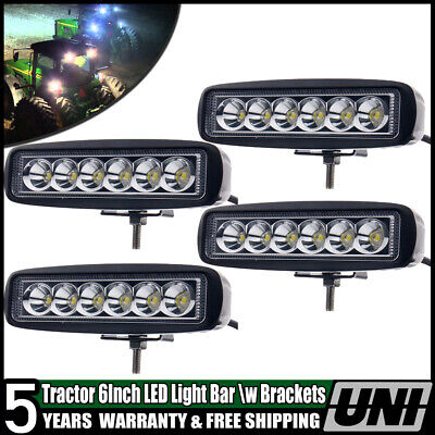 "6"" John Deere Massey Ferguson Ford International Tractor Fender Led Light Flood"