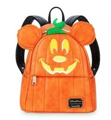 Disney Parks Mickey Mouse Pumpkin Mini Backpack By Loungefly