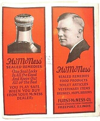1920'S Furst - Mcness Home Remedy Snake Oil Quack Medicine Products Catalog