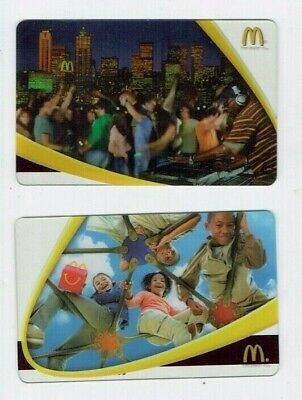 McDONALD'S Gift Cards / Arch - 2005 Party Play - Collectible No Value - LOT of 2
