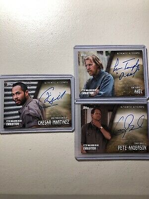 2017 Topps The Walking Dead Evolution AUTO LOT Axel, Caesar M, Pete A
