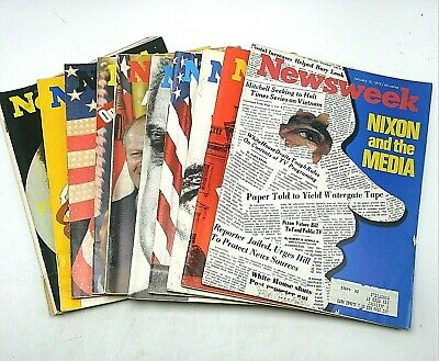 Newsweek President Richard Nixon Watergate Impeachment Lot 10 Issues 1973-1974