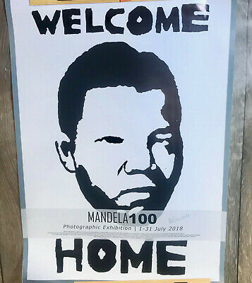 Nelson Mandela 100 Years of Life Exhibition Poster From South Africa