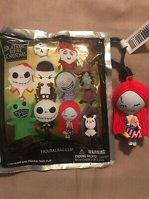 Sally Disney Nightmare Before Christmas Series 4 Figural 3D Collectors Bag Clip