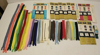 ZIPPERS Lot Assorted Colors and Sizes, Talon Zipper Included