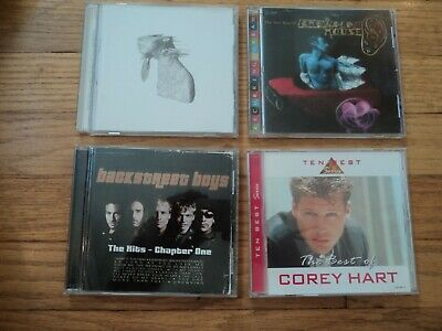 CD07 4 Greatest Hits CD's The Backstreet Boys Coldplay Crowded House Corey Hart