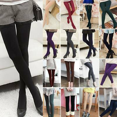 Women's Fleece Lined Warm Thick Thermal Full Foot Tights Ladies Winter Stocks US