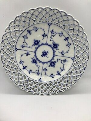 Royal Copenhagen Blue Fluted Full Lace #1098 Pierced Serving Plate 1st Quality