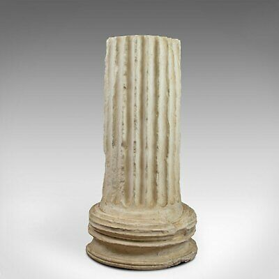 Antique Fluted Column Base, Victorian, Architectural, Pedestal, Classical, c1900