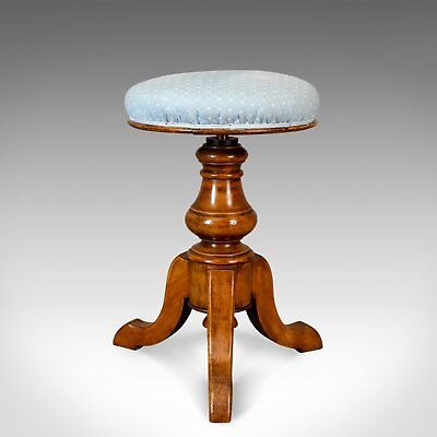 Adjustable Antique Piano Stool, Walnut, Victorian, English, Music c.1880