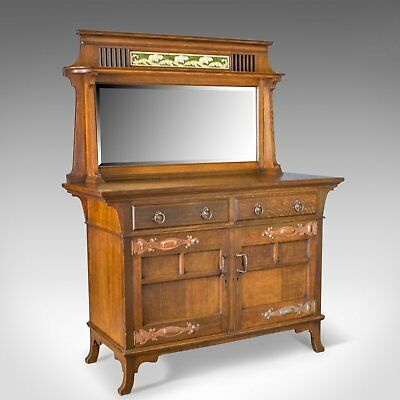 Antique Sideboard, English Oak, Arts & Crafts Cabinet, Liberty Taste, Circa 1900