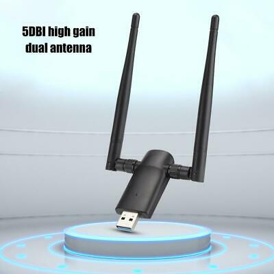 WiFi Wireless Network Card Internet Adapter USB w/ Dual Band Antenna 802.11n/g/b