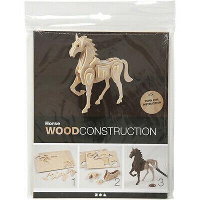 Wood Construction Horse Building Kit