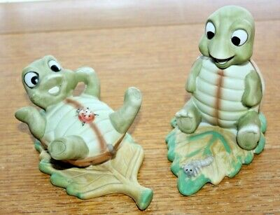 Set of 2 Porcelain PLAYFUL TURTLE Figurines Homco, Home Interiors #1123