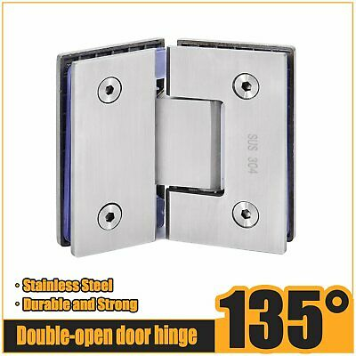 135° Stainless Steel Frameless Wall to Glass Shower Door Hinges wall mount hinge