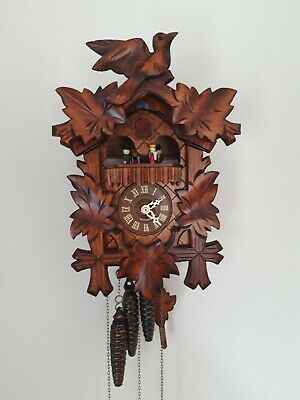 Romance Cuckoo Clock Swiss Musical Movement 3 Train 2 Melodies