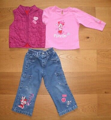 Marks And Spencer Girls Top, Gilet And Jeans Outfit Age 2-3 Years