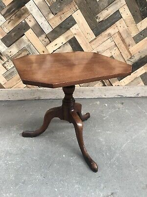 Georgian Oak Tilt Top Occasional Side Table
