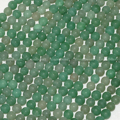 "Wholesale 10 strands x 8mm Green FROSTED Dragon Veins Agate Round Beads 15"" GB88"