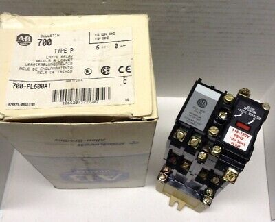 Allen Bradley Type P Industrial Latch Relay 700-PL600A1 Series C with 700-PLL20A
