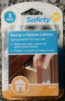 Safety 1st Spring 'n Release Latches 3 Pack Baby Proof Cabinets
