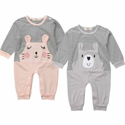 Bears Newborn Kids Baby Girl Boy Animal Warm Clothes Active Long Sleeve Rompers